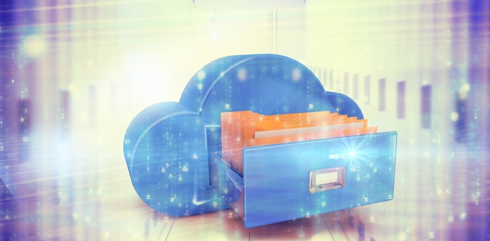 Digitally_generated_black_and_blue_matrix_against_composite_image_of_cloud_computing_drawer
